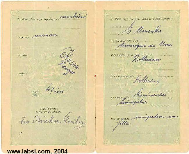 Slovakia genealogy research strategies passporthungary passport 1909 2 3 credit to steve brickseg ccuart Images